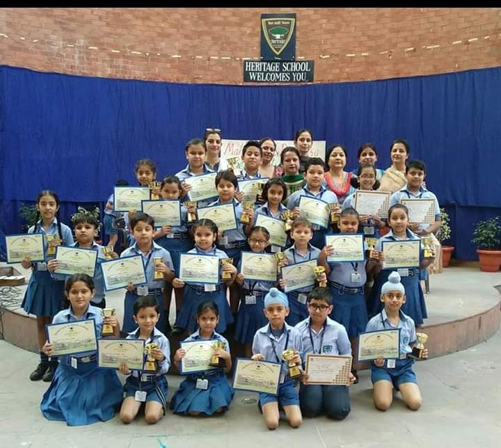 Winners of Hindi  Poem recitation,  Story Narration and  Elocution(Session 2018-19)